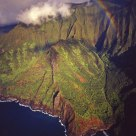 Rainbow Over The Na Pali Coast, From a Helicopter