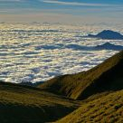 Sea of clouds and mountain waves