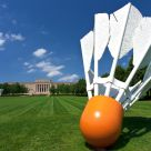 Shuttlecock on the Lawn