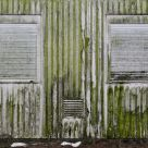 weathered container facade