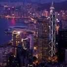 Night View of Central & Wanchai of Hong Kong