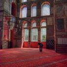 praying in Kalenderhane Mosque