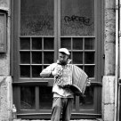 Accordionist on the Streets of Lyon