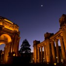 The Palace of Fine Arts, The Moon and Venus