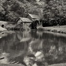 Monochrome Mill and Pond