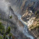 Mists Rising from Grand Canyon of the Yellowstone