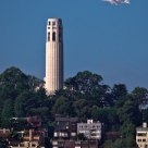 Shuttle Endeavour and Coit Tower
