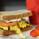 Breakfast - Brown bread sandwich
