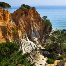 sandy cliffs of Portugal