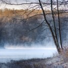 Mist at Tucker Lake.