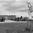 Hampton Court Palace, viewed from the Privy Garden (B&W)