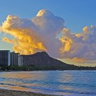 Evening clouds over Waikiki