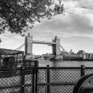 Tower Bridge, in the fading evening light (B&W)