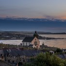A church with a good view. Banff, Whitehills and Moray Firth seen from Macduff - Scotland