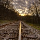 Sun on the Railroad Tracks