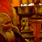 Old lama in Sera Monastery