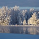 By the Oulu river in the winter