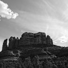 Cathedral Rock, Black and White