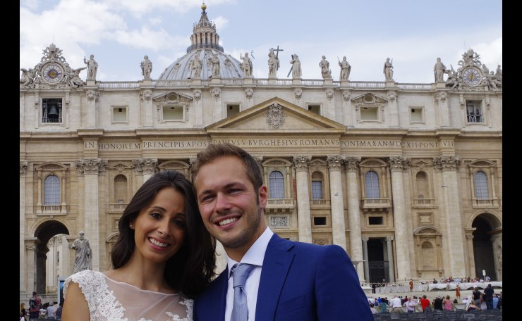 Just Married in Vatican City